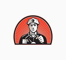 Policeman Driver Driving Steering Wheel T-Shirt