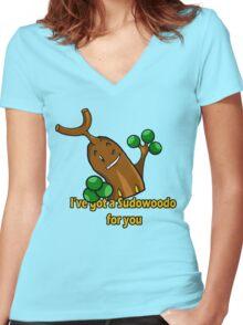 Sudowoodo Women's Fitted V-Neck T-Shirt