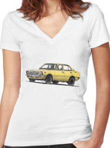 1978 Toyota Corolla Women's Fitted V-Neck T-Shirt