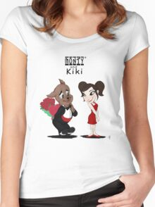 Monty and Kiki Be My Valentine Women's Fitted Scoop T-Shirt