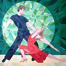 Prismatic Argentinean Tango Dancers 4 by Joseph Barbara