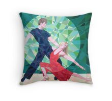 Prismatic Argentinean Tango Dancers 4 Throw Pillow