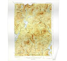 USGS TOPO Map New Hampshire NH Second Lake 330341 1932 62500 Poster