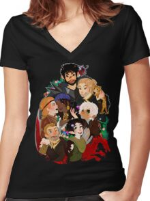Dragonn Age 2 Champions Women's Fitted V-Neck T-Shirt