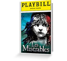 Les Miserables Playbill Greeting Card