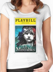 Les Miserables Playbill Women's Fitted Scoop T-Shirt