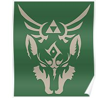 Wolf Link Blue Eyed Beast Poster