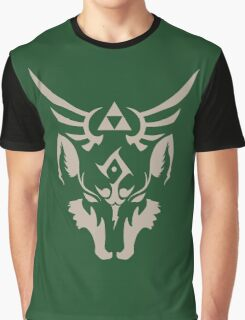 Wolf Link Blue Eyed Beast Graphic T-Shirt
