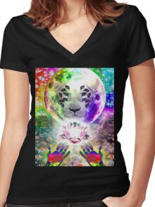 Deijavoo Women's Fitted V-Neck T-Shirt