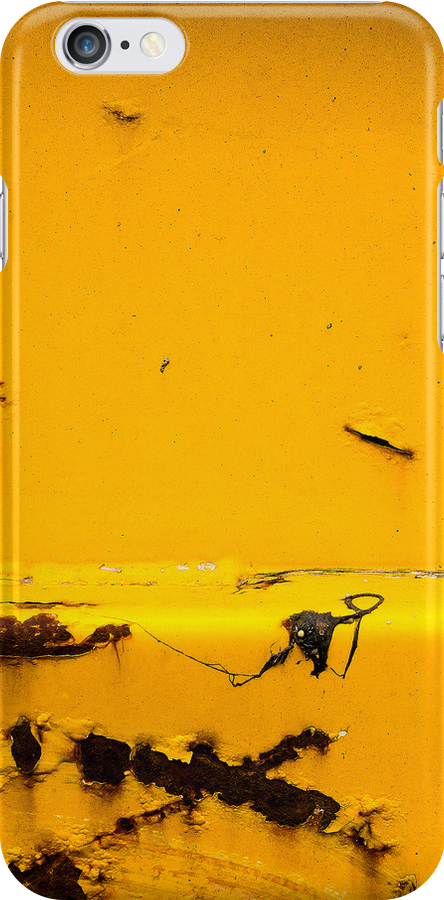 Yellow Old Vintage Rust iPhone Cases by ilolab