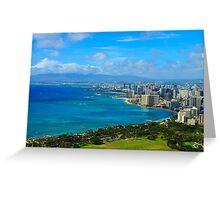 Honolulu city view Greeting Card