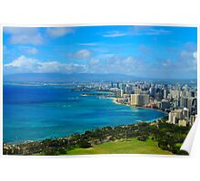 Honolulu city view Poster
