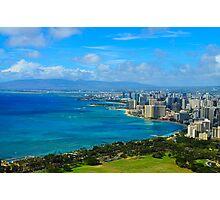 Honolulu city view Photographic Print