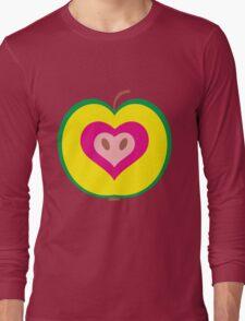 Apple Heart Long Sleeve T-Shirt
