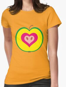 Apple Heart Womens Fitted T-Shirt