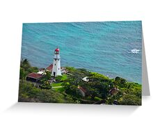 Honolulu lighthouse Greeting Card