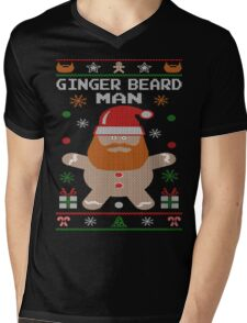 Ginger Beard Man Ugly Tees Mens V-Neck T-Shirt