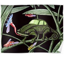 Bug the Bug killer surreal pen ink and colored pencils drawing Poster