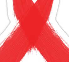 Support Aids Awareness Red Ribbon Sticker
