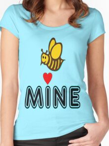 °•Ƹ̵̡Ӝ̵̨̄Ʒ♥Bee Mine-Cute HoneyBee Clothing & Stickers♥Ƹ̵̡Ӝ̵̨̄Ʒ•° Women's Fitted Scoop T-Shirt