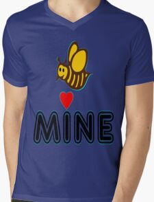 °•Ƹ̵̡Ӝ̵̨̄Ʒ♥Bee Mine-Cute HoneyBee Clothing & Stickers♥Ƹ̵̡Ӝ̵̨̄Ʒ•° Mens V-Neck T-Shirt