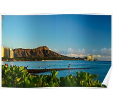 Diamond Head mountain Hawaii Poster