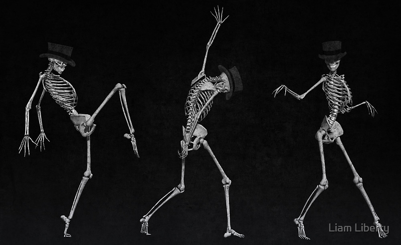 Dancing Skeletons by Liam Liberty