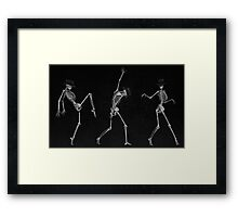 Dancing Skeletons Framed Print