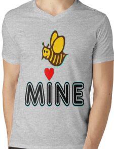 °•Ƹ̵̡Ӝ̵̨̄Ʒ♥Bee Mine-Cute HoneyBee Clothing & Stickers♥Ƹ̵̡Ӝ̵̨̄Ʒ•° Mens V-Neck T-Shirt