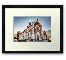Church in French Alps, Saint-Jorioz Framed Print