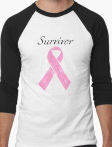 Breast Cancer Survivor Men's Baseball ¾ T-Shirt