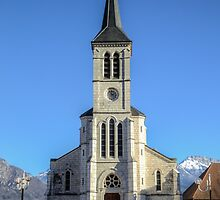 Church in French Alps, Sevrier by Joshua McDonough Photography