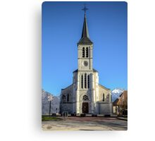 Church in French Alps, Sevrier Canvas Print