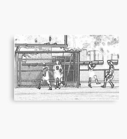 093012 274 pencil sketch soccer Canvas Print