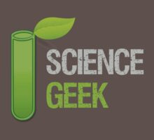 Science Geek Test Tube Leaf by Sarah  Eldred