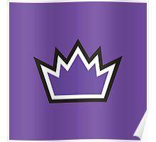 Sacramento Kings Crown  Logo Stuff Poster