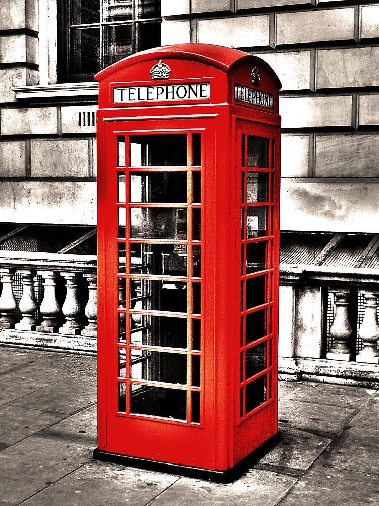Seedy Whitehall Phonebox by DavidWHughes