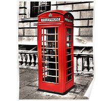 Seedy Whitehall Phonebox Poster
