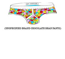 Unspecified brand chocolate bean pants by TLCcompany