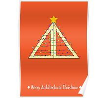 Merry Architectural Christmas Poster