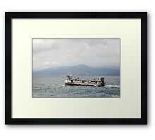 French Navy Amphibious Landing Catamaran Framed Print