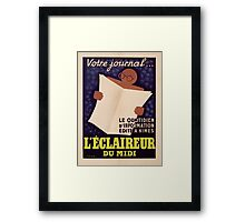 Poster advertising 'L'Eclaireur du Midi' newspaper, c.1939  Framed Print