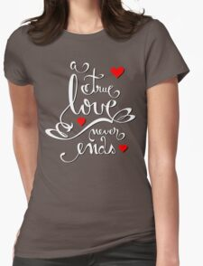 Valentine Love Calligraphy and Hearts V2 Tee  T-Shirt