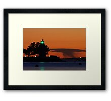 Goat Island lighthouse Newport, RI Framed Print