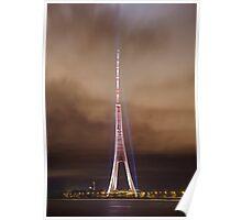 TV tower, Riga, Latvia Poster