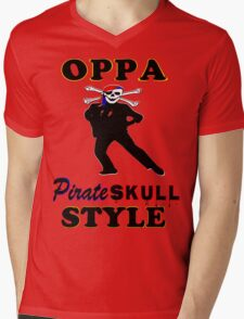 ★ټPirate Skull Style Hilarious Clothing & Stickersټ★ Mens V-Neck T-Shirt