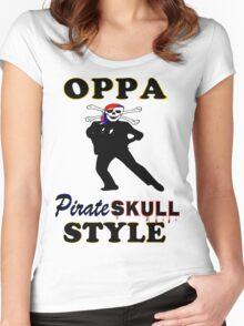 ★ټPirate Skull Style Hilarious Clothing & Stickersټ★ Women's Fitted Scoop T-Shirt