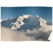 Mont Blanc in Winter Poster