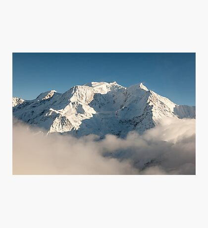 Mont Blanc in Winter Photographic Print