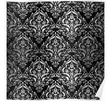 DMS1 BK MARBLE SILVER Poster